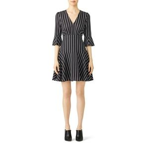 Fame & Partners Striped Lipton Dress 14 Empire